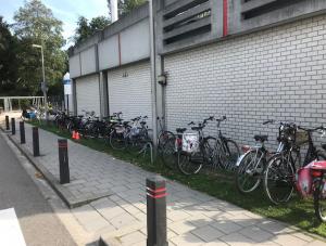 Tijdelijke fietsenstalling